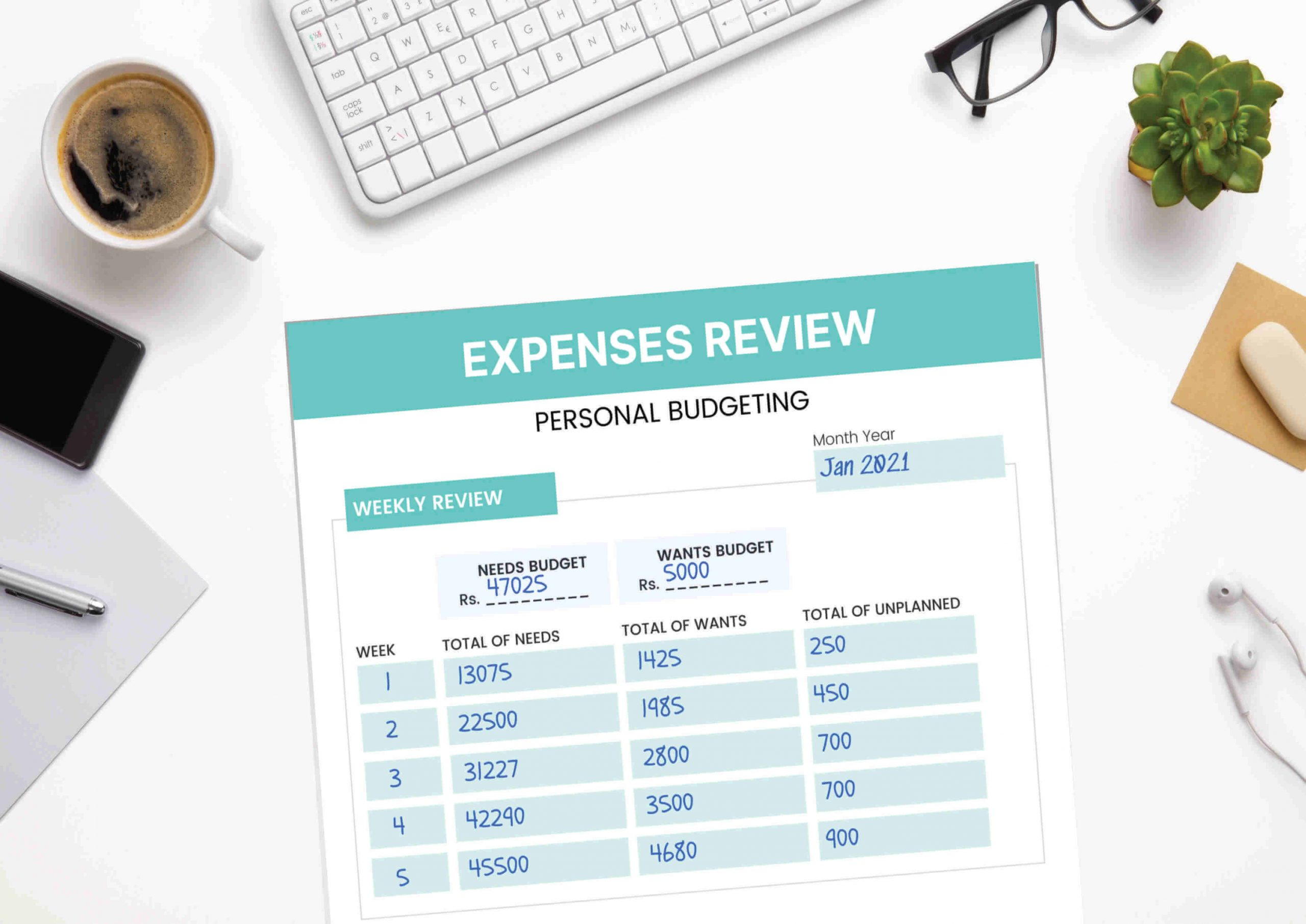 Budgeting monthly review